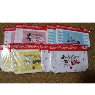 キリン(キリン)のディズニー ウェットティッシュポーチ KIRIN 4種類×2点ずつ計8点セット(キャラクターグッズ)