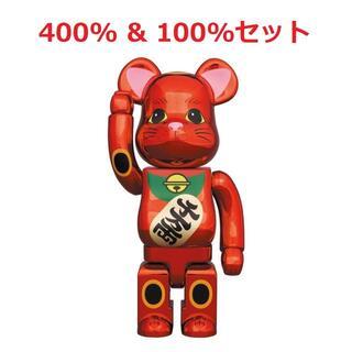 メディコムトイ(MEDICOM TOY)のBE@RBRICK 招き猫 梅金メッキ 400% 100% セット(その他)