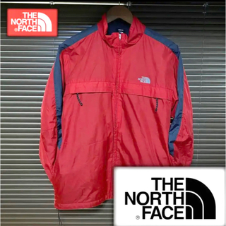 THE NORTH FACE - THE NORTH FACE full zip nylon jacket red