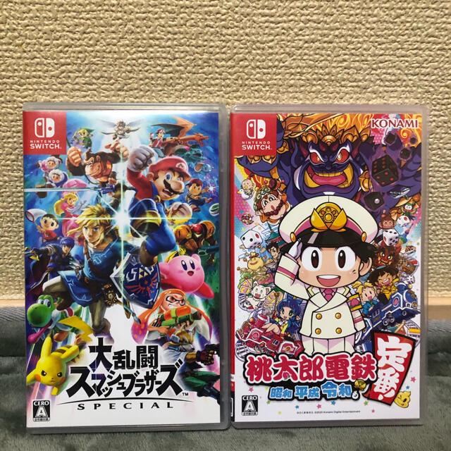 Nintendo Switch(ニンテンドースイッチ)のスマブラ 桃太郎電鉄 エンタメ/ホビーのゲームソフト/ゲーム機本体(家庭用ゲームソフト)の商品写真