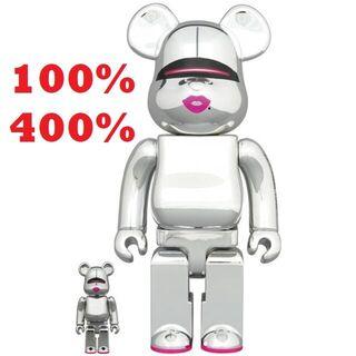 メディコムトイ(MEDICOM TOY)のBE@RBRICK SORAYAMA × 2G SILVER 100%&400%(フィギュア)