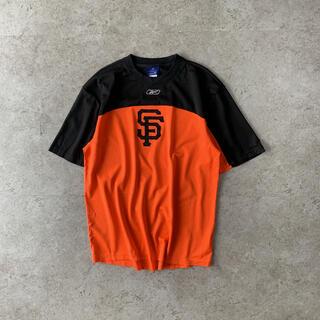 Reebok - 00's Reebok MLB SF メッシュ シャツ 刺繍 オレンジ