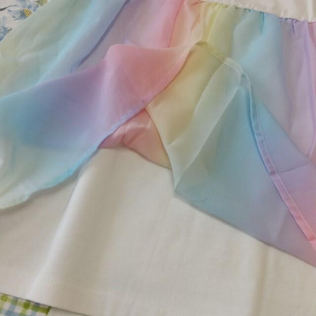 anyFAM(エニィファム)のエニィファム バックシャン 半袖 キッズ/ベビー/マタニティのキッズ服女の子用(90cm~)(Tシャツ/カットソー)の商品写真