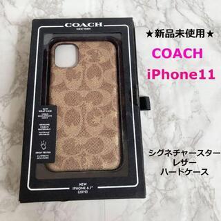 COACH - 新品未使用◆COACH★コーチ★iPhone11◆シグネチャースターハードケース