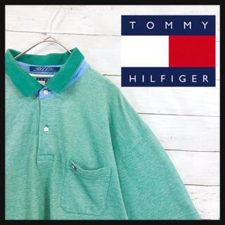 TOMMY HILFIGER - 90.s トミーヒルフィガー 古着最良カラーアースカーキ オーバーサイズ