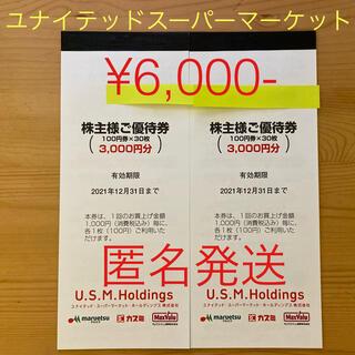 イオン(AEON)のユナイテッドスーパーマーケット株主優待 ¥6,000-(ショッピング)