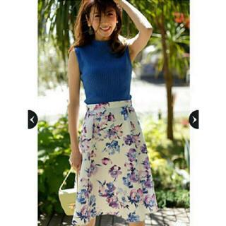 JUSGLITTY - ジャス♡水彩フラワープリントスカート