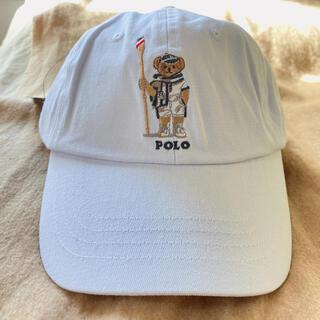 ポロラルフローレン ポロベアキャップ レディース帽子 ホワイト