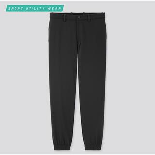 ユニクロ(UNIQLO)のユニクロ EZYジョガーパンツ ブラック Lサイズ(スラックス/スーツパンツ)