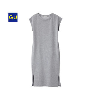 GU - 新品未使用 GU フレンチスリーブロングTS グレー M