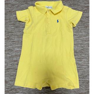 ラルフローレン(Ralph Lauren)のラルフローレン カバーオール ポロシャツ 9M イエロー 黄(カバーオール)