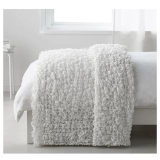 IKEA - IKEAイケア オフェーリア ベッドカバー 毛布 おしゃれ 白 ソファーにも