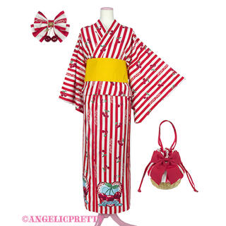 アンジェリックプリティー(Angelic Pretty)のAngelic Pretty Cherry Stamp浴衣Set(浴衣)