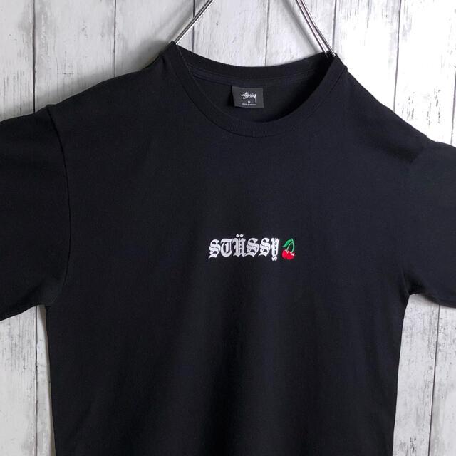 STUSSY(ステューシー)の【美品】ステューシー メキシコ製 ロゴ刺繍 プリント Tシャツ M 黒 メンズのトップス(Tシャツ/カットソー(半袖/袖なし))の商品写真