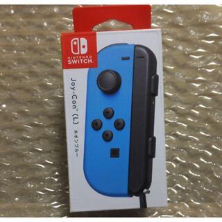 Nintendo Switch - 未使用・Joy-Con(L) ネオンブルー Joy-conストラップ黒 左