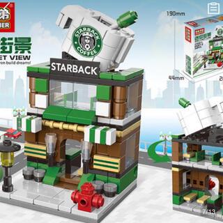 LEGO 互換性 スタバ風 レゴ ビルディングブロック ショップ おもちゃ(模型/プラモデル)