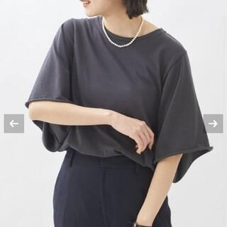 プラージュ(Plage)のPlagewide sleeve Tシャツ グレー(Tシャツ(半袖/袖なし))