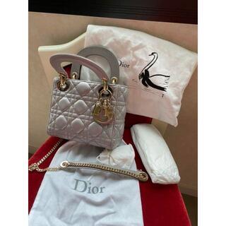 Christian Dior - ハンドバッグ レディディオール ミニ 定番 グレー パールグレー 美品