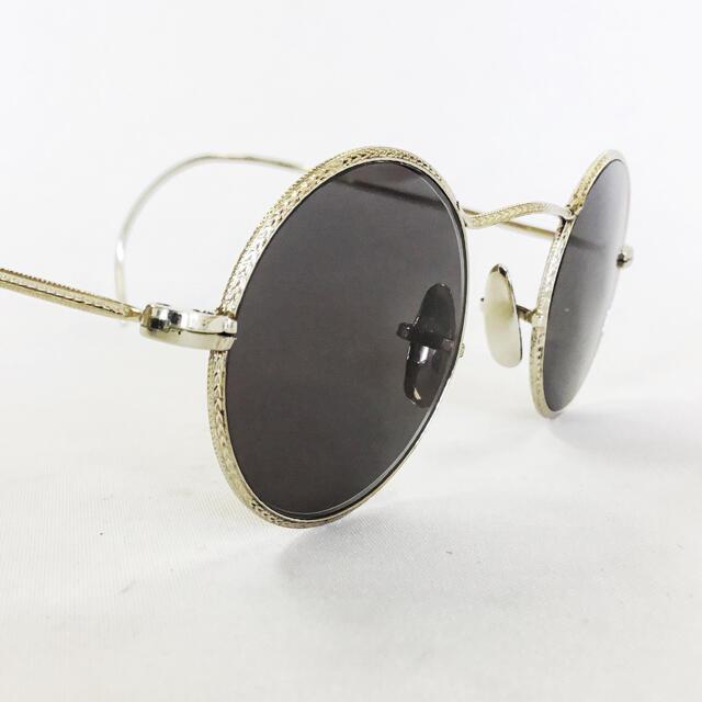 Ray-Ban(レイバン)の1930年代 USA フル彫金 ヴィンテージ ラウンドサングラス メンズのファッション小物(サングラス/メガネ)の商品写真