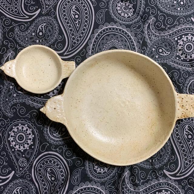 金成潤子  (親子鳥皿) インテリア/住まい/日用品のキッチン/食器(食器)の商品写真