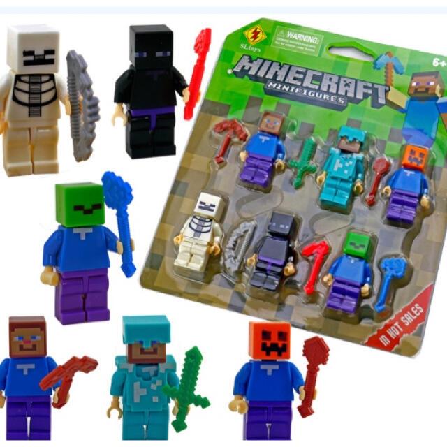 マインクラフト LEGO互換性 ミニフィグ キャラクター レゴ LEGO エンタメ/ホビーのおもちゃ/ぬいぐるみ(キャラクターグッズ)の商品写真