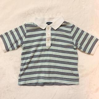 バーバリー(BURBERRY)のBURBERRY ボーダーポロシャツ 80cm(シャツ/カットソー)