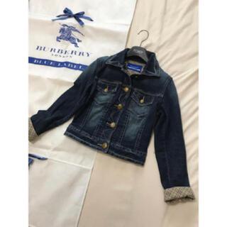 バーバリーブルーレーベル(BURBERRY BLUE LABEL)の美品 バーバリー ブルーレーベル  デニム ジャケット(Gジャン/デニムジャケット)