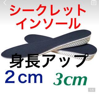 シークレットインソール 身長アップ メンズレディース EVA クッション 3cm(その他)