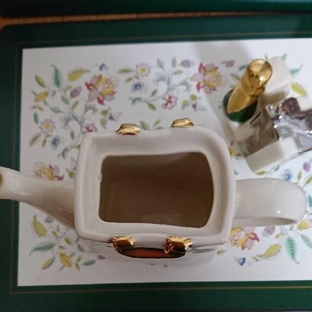 Harrods(ハロッズ)のハロッズのミニ  ティポットです。 インテリア/住まい/日用品のキッチン/食器(テーブル用品)の商品写真