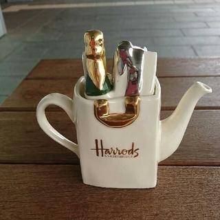 ハロッズ(Harrods)のハロッズのミニ  ティポットです。(テーブル用品)