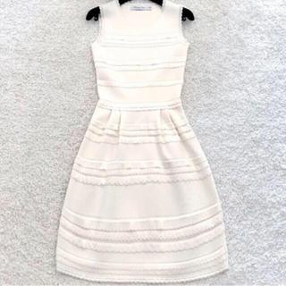クリスチャンディオール(Christian Dior)のクリスチャンディオール スカラップワンピース 未使用(ひざ丈ワンピース)