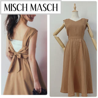 MISCH MASCH - ミッシュマッシュ バックリボンワンピース