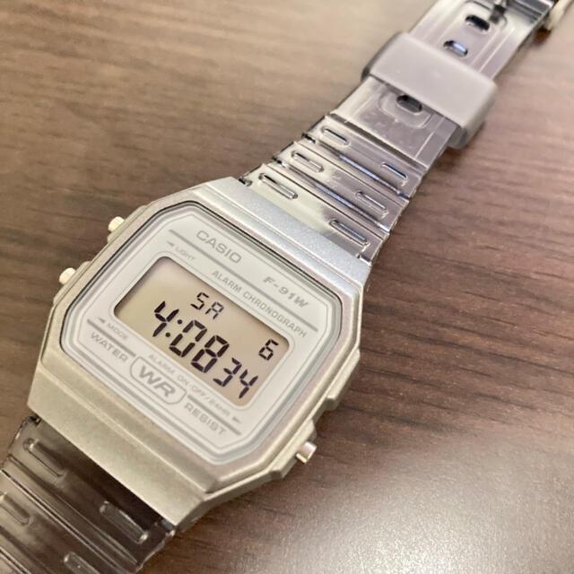 CASIO(カシオ)の一時値下げ 新品未使用 CASIO クリアウォッチ グレー チープカシオ 古着 メンズの時計(腕時計(デジタル))の商品写真