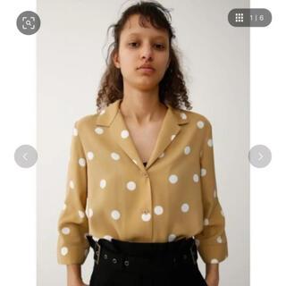 moussy - MOUSSY  七分袖ドット柄シャツ