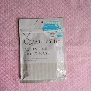 クオリティファースト(QUALITY FIRST)のクオリティファースト オールインワンシートマスク ホワイトEX(5枚入)(パック/フェイスマスク)