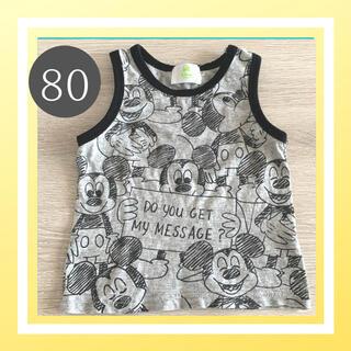 ディズニー(Disney)の美品 Disney ディズニー  ミッキー タンクトップ ノースリーブ 80(タンクトップ/キャミソール)