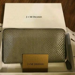 ジェイアンドエムデヴィッドソン(J&M DAVIDSON)のJ&M DAVIDSON  ラウンドファスナー 長財布 スネークレザー(財布)