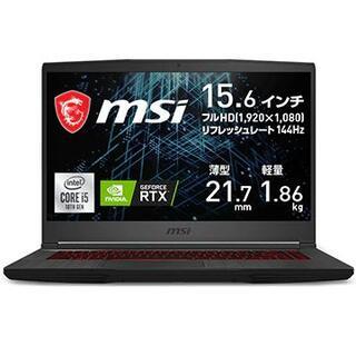 5%オフ新品 RTX3060 ゲーミング MSI GF65 Thin