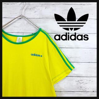 90.a adidasゲーミングTシャツ ワンポイント刺繍 スリーライン