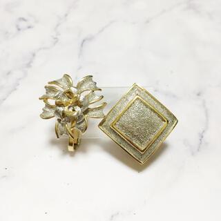 アッシュペーフランス(H.P.FRANCE)のVintage * silver & gold earring set(イヤリング)