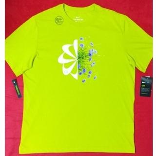 NIKE - NIKE 半袖 Tシャツ 風車 花柄 フローラル 黄緑 クラシック 入手困難