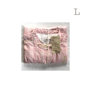 ムジルシリョウヒン(MUJI (無印良品))の無印良品      脇に縫い目のないサッカー織り半袖パジャマ  7分丈パンツ L(パジャマ)