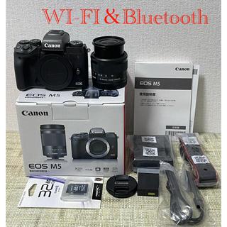 Canon - Canon EOS M5ズームレンズキットBluetooth&Wi-Fi 自撮り