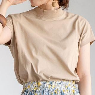 coen - coen リピT 接触冷感 UVカット ハイネックTシャツ ベージュ