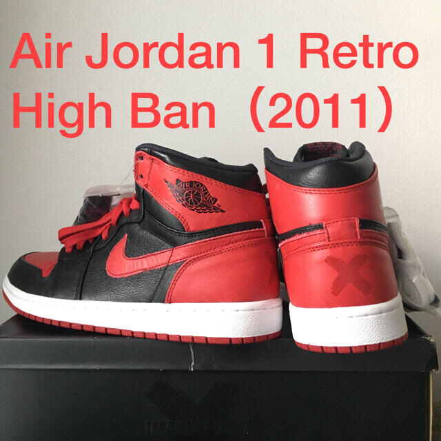 NIKE(ナイキ)のNIKE:AIR JORDAN 1 HIGH BAN 2011 / BANNED メンズの靴/シューズ(スニーカー)の商品写真
