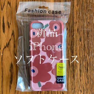 新品 マリメッコ 風 花柄 iPhone7 8 SE2 スマホケース ソフト