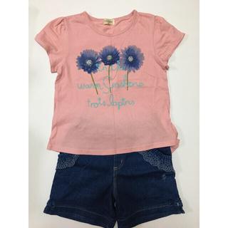 ニットプランナー(KP)の120cm KP お花柄Tシャツ&ショートパンツ  セット売り(Tシャツ/カットソー)
