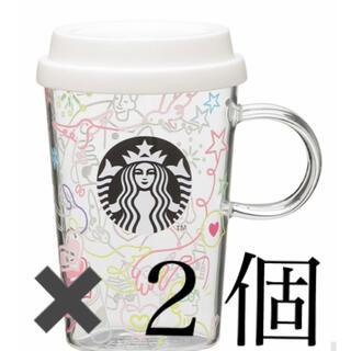 スターバックスコーヒー(Starbucks Coffee)のスターバックス スタバ   耐熱グラスマグカラフルラインアート355ml(グラス/カップ)