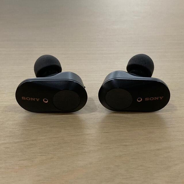 SONY(ソニー)のソニー 完全ワイヤレスBluetoothイヤホン WF-1000XM3 ブラック スマホ/家電/カメラのオーディオ機器(ヘッドフォン/イヤフォン)の商品写真