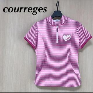 クレージュ(Courreges)のcourreges クレージュ レディース 38 M 半袖 パーカー ポロシャツ(ポロシャツ)
